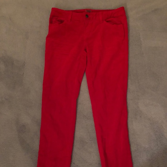 Tripp nyc Other - Bright red velvet men's jeans
